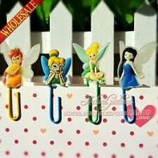 4pcs Tinker Bell Cartoon Bookmarks,Paper clips,School Supplies for Students Gift