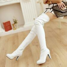 2016 Winter Womens shoes cuffed high heel sexy over the knee thigh high boots