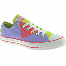 LADIES CONVERSE MULTI PANEL TRAINERS SIZE UK 3 - 8 CANVAS OX LAVENDAR 542589F
