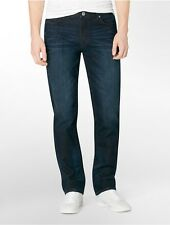 calvin klein mens slim straight leg osaka blue wash jeans