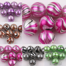 10/50Pcs Mixed Color Water Ripples Patterns Crystal Glass Charm beads 12mm