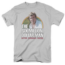 The Six Million Dollar Man Better Stronger Faster 70s NBC TV Show T-Shirt Tee