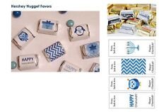 90 HERSHEY NUGGET Personalized Hanukkah Chanukah Candy Favors Chocolate Wrappers