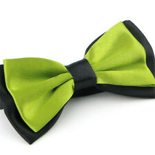 Solid Color Two Tone Mens Bowtie Men Tuxedo Bow Tie For Wedding Formal Party X 1