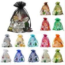 100Pcs Organza Wedding Party XMAS Favor Decoration Gift Candy Sheer Bags Pouches