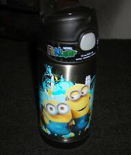 THERMOS FUNTAINER MINIONS SNAP CLOSING 12 OZ. INSULATED STAINLESS STEEL BOTTLE