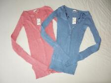 New Junior's Aeropostale Knit Henley Top in Pink or Blue - Size XS- NWT ($39.50)