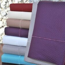 Luxor 800 Thread Count 6-Pc Bed Sheet Set Deep Pocket Sheets Micro-Checkered