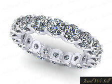 4.50Ct Round Brilliant Diamond Shared U-Prong Eternity Band Ring 18K Gold H SI2