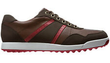 FootJoy Contour Casual Golf Shoes Brown/Red 54371 New Closeout Mens Spikeless