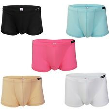 Mens Sexy Comfy Smooth Soft Underwear Lingerie Boxer Trunks Shorts Briefs Thong