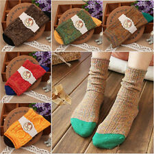 Mens Women's Casual Cotton Socks Design Multi-Color Fashion Dress Socks Winter