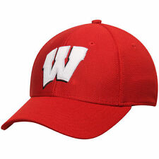 Wisconsin Badgers adidas Basic Logo Structured climalite Hat - Red - College
