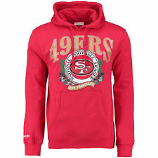 San Francisco 49ers Mitchell & Ness Fair Catch Pullover Hoodie - Scarlet - NFL