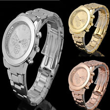Fashion Womens Stainless Steel Watch Luxury Quartz Dress Analog Wrist Watches