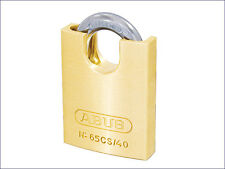ABUS 65 SERIES CLOSE SHACKLE SOLID BRASS + STEEL SHACKLE PADLOCK - All Sizes