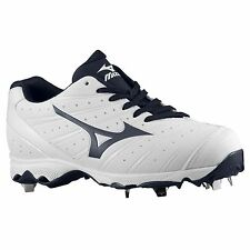 Mizuno Advanced Sweep 2 Women's Softball Cleats NEW White/Navy 320473 Size 8