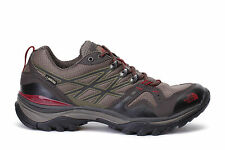 The North Face Mens HedgeHog Fastpack GTX Hiking Shoes Brown/Red CDF8AZL