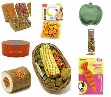 Happy Pet Rabbit Guinea Pig Treats Bowl Bed Toy Nest Harness Lots Of Choice