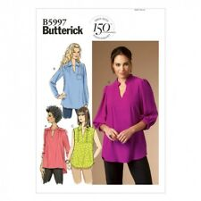 Butterick Ladies Easy Sewing Pattern 5997 Blouse Tops (Butterick-5997-M)