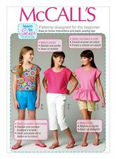 McCalls Childrens Easy Learn to Sew Sewing Pattern 6917 Tops, Shorts & Pa...