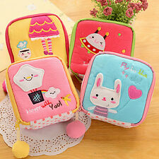 Girl Fashion Cartoon Sanitary Napkin Towel Pads Small Bag Purse Holder Organizer