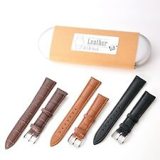 KR-NET 18mm Genuine Leather Strap Watch Band for Withings Activite Pop Steel
