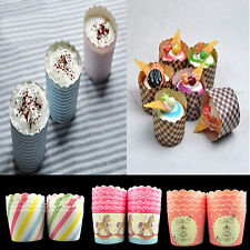 10pcs New Greaseproof Muffin Cupcake Cups Paper Baking Liners Home Wedding Party