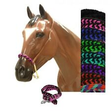 Braided Nylon Rawhide Leather Horse Barrel Racing Training Noseband Tie Down