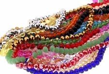 72Pcs Faceted Crystal Rondelle DIY Bead 8MM Making Bracelet For Jewelry Making