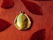Turquoise Pendant ~ Stone Set In Silver Setting ~ Old ~ Chain Not Included