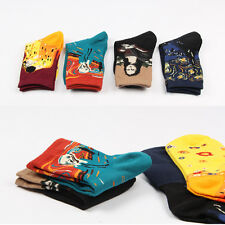 5 Pairs World Famous Painting Fine Art Socks Mona Lisa The Scream Starry Night