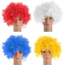 Party Disco Afro Clown Hair Football Fan Adult Child Costume Curly Wig