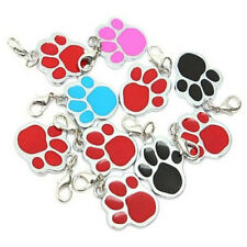 Pet Cat Dog Paw Foot ID Name Collar Keychain Personalized Tag Not Engraved 1Pc