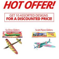 HOT OFFER! Assorted Designs WWII Planes / Dinosaur Gliders Party Bag Fillers