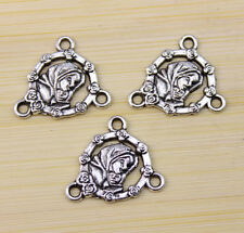 30/60/100 pcs wholesale:Very beautiful Tibet silver portrait Charm pendant