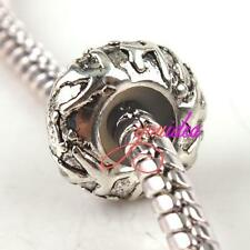 10x Silver Plated Stopper Rubber Charms Beads Fit Snake Bracelets Free ship CY