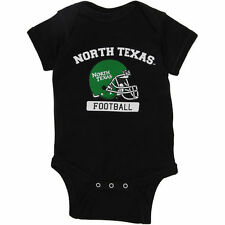 North Texas Mean Green Infant Football Bodysuit - Black - College