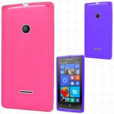 For Nokia Lumia 435 Frosted TPU CANDY Gel Flexi Skin Case Cover +Screen Guard