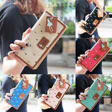 Women Leather Wallet Long Case Purse Lady Clutch Wallet Zip Handbag Card Holder