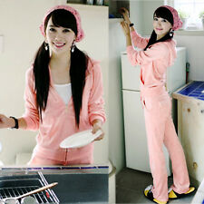 Women Casual Sport Hooded Hoodie Outerwear Jacket Tracksuits Trousers Pant Suit