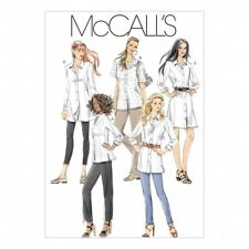 McCalls Ladies Sewing Pattern 6124 Shirts In 3 Lengths (McCalls-6124-M)
