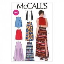 McCalls Ladies Easy Sewing Pattern 7096 Skirts in 6 Styles (McCalls-7096-M)