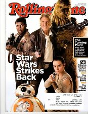 ROLLING STONE - Issue 1251 - Dec 31, 2015 - STAR WARS Cover - Bowie, Stapleton