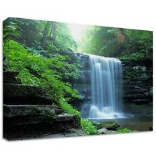Waterfall - Framed Canvas Art Print - Nature Art - Many Sizes