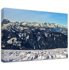 Mountains Alps - Framed Canvas Art Print - japanese japan classic