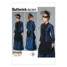 Free UK P&P - Butterick Ladies Sewing Pattern 6305 Victorian Top & Fr...