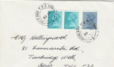 RAILWAY :1975 HIGHLAND T.P.O. /DOWN/1  on envelope to Tunbridge Wells