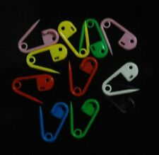 "11/16""Length Plastic MIX Colorful Smaller Safety Pins Charms Baby Shower"
