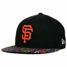 San Francisco Giants MLB Viza Hook New Era 59Fifty Flat Bill Brim Fitted Hat Cap